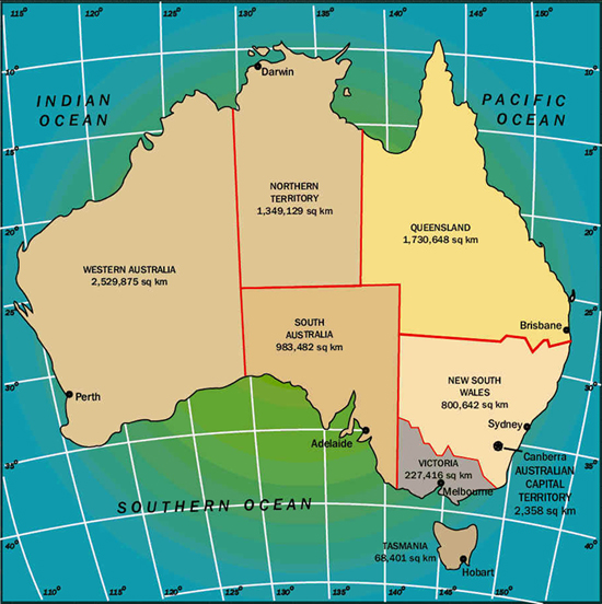Picture: Map of Australia
