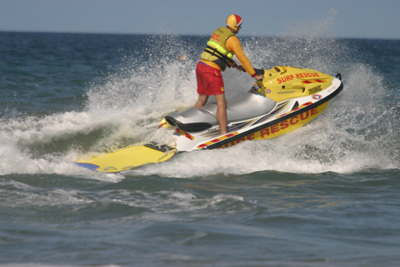 Waverunner used by surf lifesavers and lifeguards -- courtesy Harvie Allison.