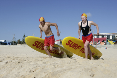 Maroubra surf lifesavers at a recent carnival -- courtesy TVU.