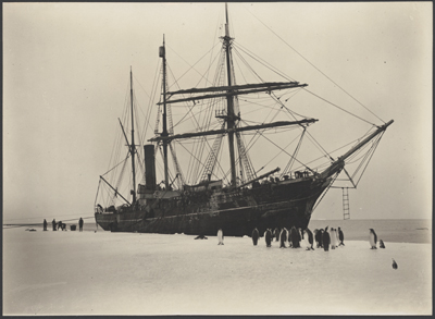The Aurora, Australasian Antarctic Expedition 1911–1914 – Frank Hurley, courtesy National Library of Australia.