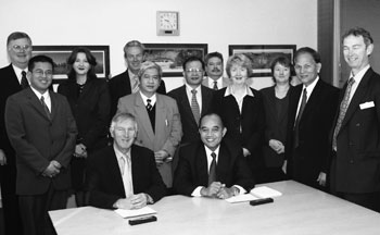 Image: The Australian Statistician signing the Memorandum of Understanding in June 2006 with the Director General of Badan Pusat Statistik - Statistics Indonesia