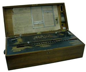 Photograh of a Millionaire calculating machine used in the compilation of 1911 census results.