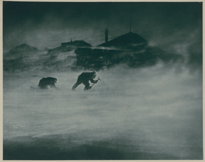 A blizzard, 1913 - Frank Hurley, courtesy National Library of Australia