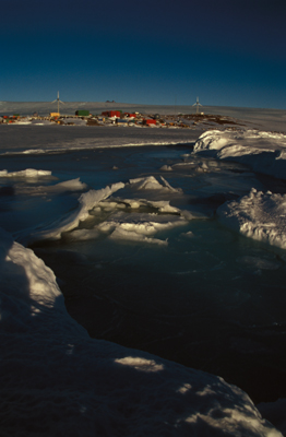 Mawson station, photograph by Frederique Olivier, Australian Government Antarctic Division � Commonwealth of Australia 2006
