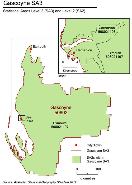 Map of Gascoyne