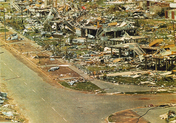 Photograph: Darwin after Cyclone Tracy, December 1974.