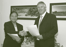 Image: Signing of the Memorandum of Understanding betweem Statistics Indonesia and the Australian Bureau of Statistics