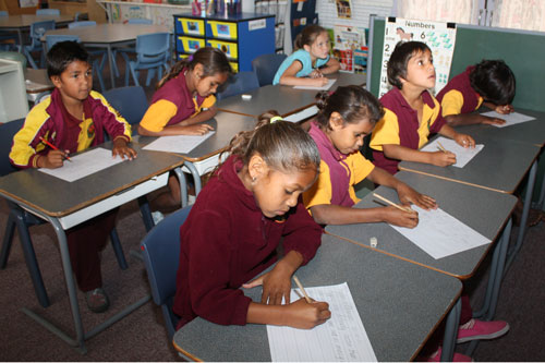 Image: Cherbourg State School classroom.