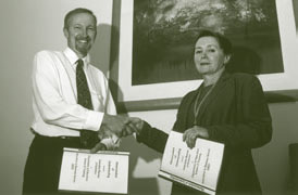 Image: Mr Richard Bridge and Ms Bronwyn Driscoll