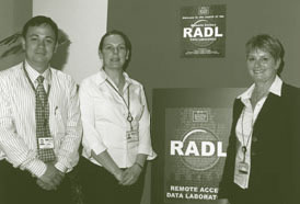 Image: Officers involved in the development of the Remote Access Data Laboratory