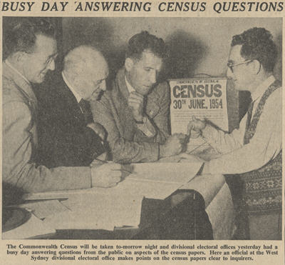 West Sydney Electoral staff answer questions about the Census
