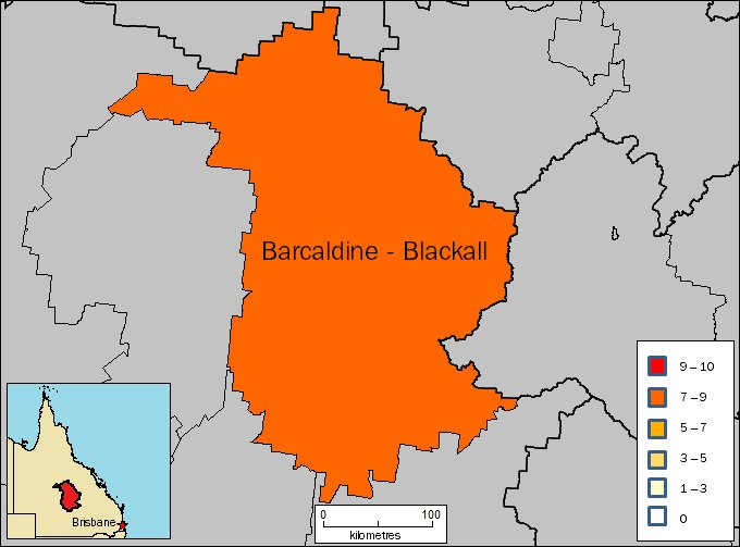 Image: Map of Barcaldine - Blackall region in Queensland