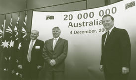 Image: Celebrating Australia's population reaching 20 million
