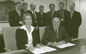 Image: Official signing of the Geocoded National Address File licence