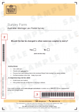Image icon of survey form with barcode.