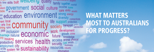 What matters most to Australians for progress? image