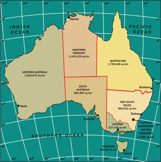 Image: Map of Australia
