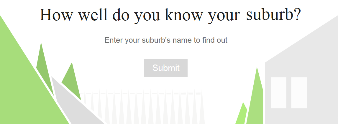 Screenshot of The Age's suburb quiz