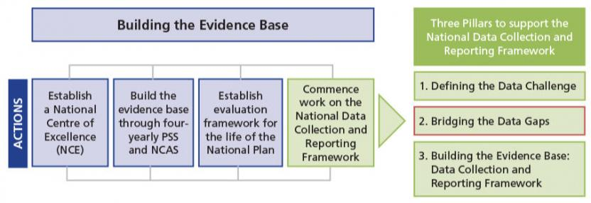 Bridging the data gaps is the second stage in building the evidence base as part of the national data collection and reporting framework