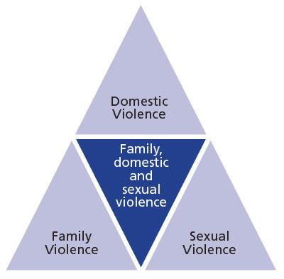The overlaps between family, domestic and sexual violence.