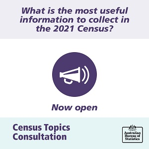Image: Speaker announcing What is the most useful information to collect in the 2021 Census?