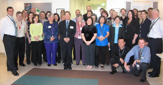 Image: Participants of the March 2007 International CensusAtSchool workshop.
