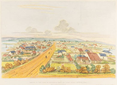 Sketch of Fremantle in 1839